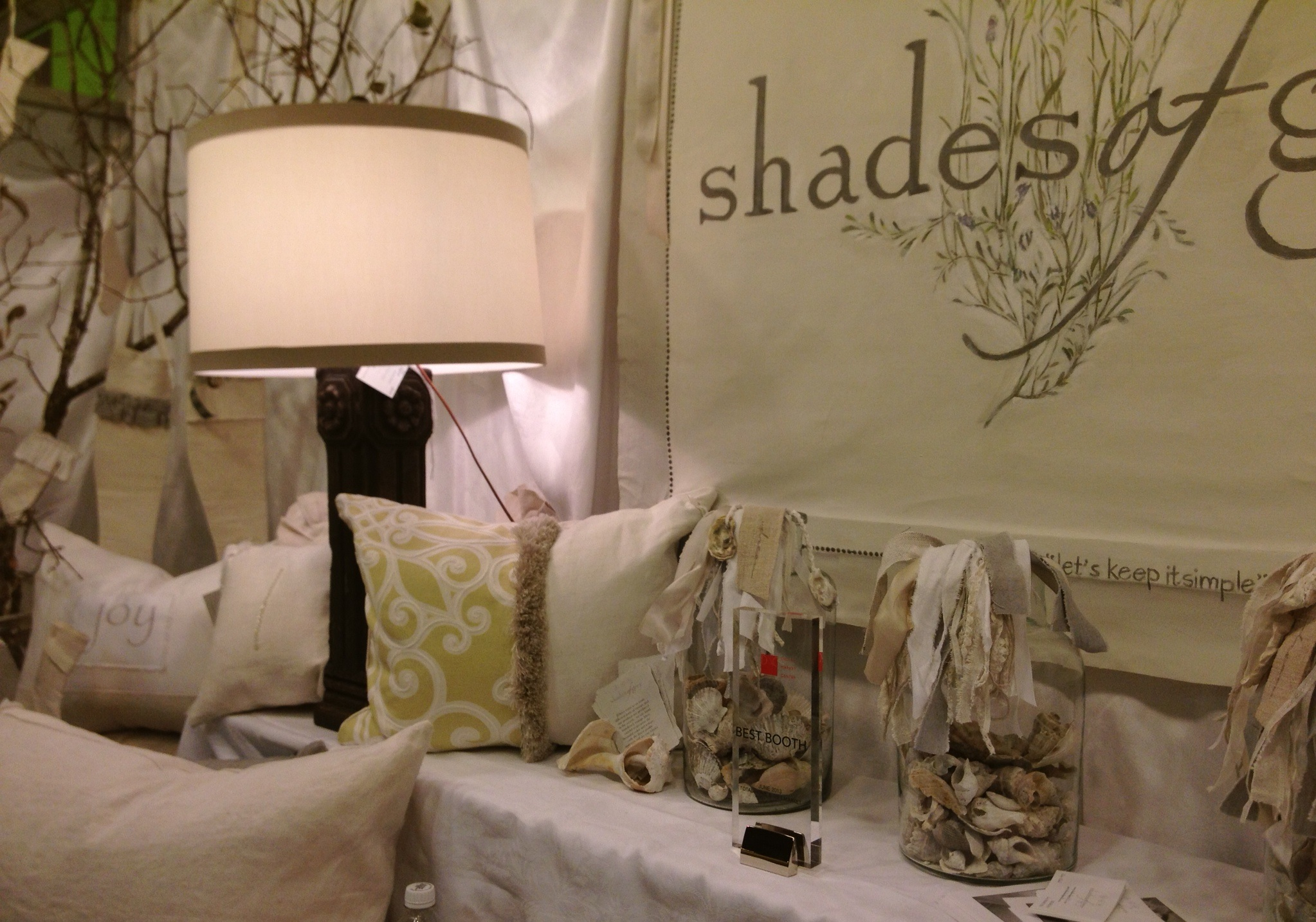 """....proud moment! World Trade Center, Dallas, Texas. Best Booth 2013 Total Home and Gift Market"""